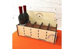 Wine bottles display box. Gift box. Glowforge ready vectors Product Image 4