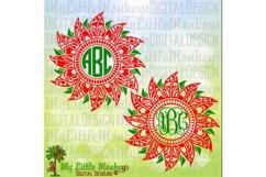 Poinsettia Mandala Monogram Base Product Image 1