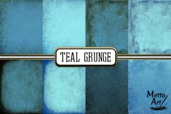 Teal Grunge - 16 Digital Papers/Backgrounds Product Image 2