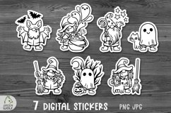 Printable halloween stickers Halloween sticker bundle Witch Product Image 1