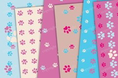 Pink and blue paws seamless pattern Product Image 3