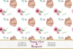 Funny Cats Seamless Patterns, Seamless backgrounds Product Image 3