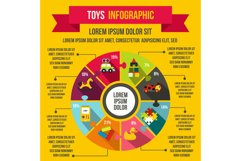 Toys infographic elements, flat style Product Image 1