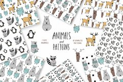 Animals & patterns for baby nursery Cute baby illustrations Product Image 1