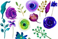 Watercolor Floral Clipart Product Image 2