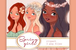 Spring girls. Clipart Product Image 1