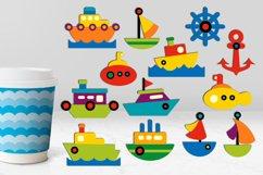 Transportation vehicles clip art graphics bundle Product Image 6