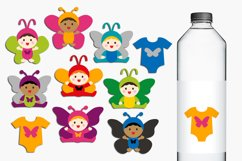 Baby in butterfly costumes clip art illustrations Product Image 1