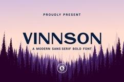 Vinnson - Modern Sans Serif Font Product Image 1