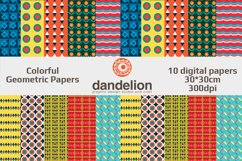 Colorful Geometric Papers Product Image 1