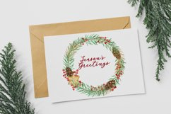 Christmas Watercolor Gold Frames Clipart Product Image 6