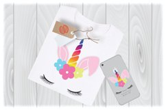 Unicorn Easter Bunny SVG Files for Cricut Designs Product Image 1