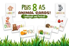 Watercolor Forest Animal Pattern Set Product Image 3