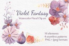 Watercolor Floral Clip Art Product Image 1