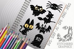 Halloween Spooky Characters SVG, Silhouette Studio, Cricut Product Image 1