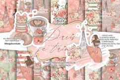 Paris je t'aime digital paper pack Product Image 1