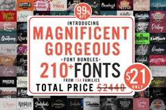 Magnificent Gorgeous 210 Fonts Bundle Product Image 1