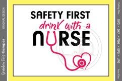 Nurse, Nurse SVG, Nurse Drinking, Safety First Product Image 1