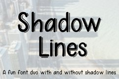 Shadow Lines - A fun font duo with and without shadow lines Product Image 1