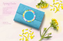 Spring Circle Frames Clipart Set of 24 PNG files Product Image 3