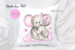 Mom and baby elephant sublimation Product Image 1