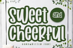 Sweet and Cheerful | A Handwritten Font Product Image 1
