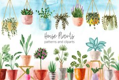 Watercolor House Plants Patterns Product Image 1