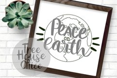 Peace On Earth Christmas Song Quote Holiday Winter Cut File Product Image 3