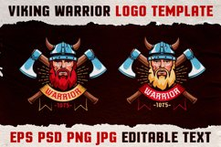Viking Warrior Logo Colored Template Product Image 2