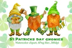 St Patricks Day Gnomes Sublimation designs downloads. Product Image 1