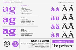 Optimus - Serif font family Product Image 2