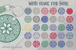 Keychain Svg Bundle of 220 designs Geometric patterns Product Image 2