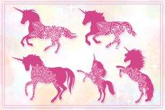 Unicorn Mandala SVG Cut Files Pack Product Image 3