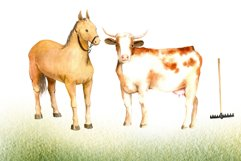 Watercolor clipart FARM life Product Image 3