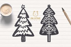 Scandinavian Style X-mas Trees SVG Bundle, Christmas Decor Product Image 4