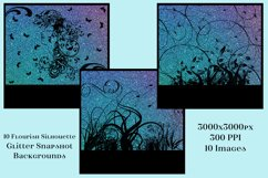 Flourish Silhouette Glitter Snapshot Backgrounds - 10 Images Product Image 3