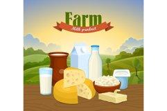 Milk natural farm concept Product Image 1