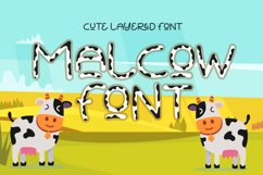 Malcow - Cute Layered Font Product Image 1