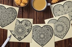 Decorated Hearts Silhouettes, Valentines svg, Mandala Product Image 6