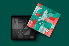 Christmas geometric pattern and postcard set. Product Image 2