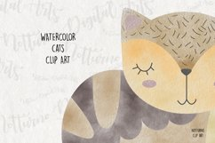 Watercolor Cat Clipart. Set of 10 png digital clipart Product Image 6