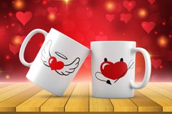 Valentine's SVG Cut files - Valentines day SVG angel heart Product Image 2