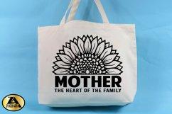 Mother SVG Mothers Day SVG Mom Life SVG Sunflower Heart SVG Product Image 2