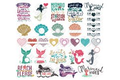 Mermaid SVG Bundle Quotes Sayings Monogram in SVG/DXF/PNG/JP Product Image 1