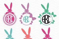 8 Bunny Monograms Bundle SVG, DXF, JPG, PNG, DWG, AI, EPS Product Image 2