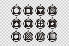 Heart earring,heart svg,Star svg,Cricut file,Earrings bundle Product Image 2