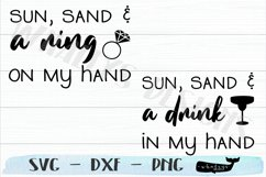 Sun, Sand and a Ring / Drink on my Hand- Bachelorette Product Image 2