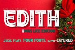 EDITH Lite XMAS Layered Font Promo Product Image 2