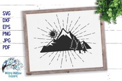 Mountain Silhouette SVG   Outdoors Camping SVG Cut File Product Image 1