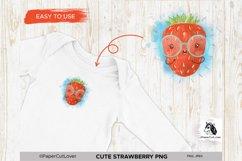 Strawberry PNG Kawaii Fruit Strawberry Sublimation Cartoon Product Image 1